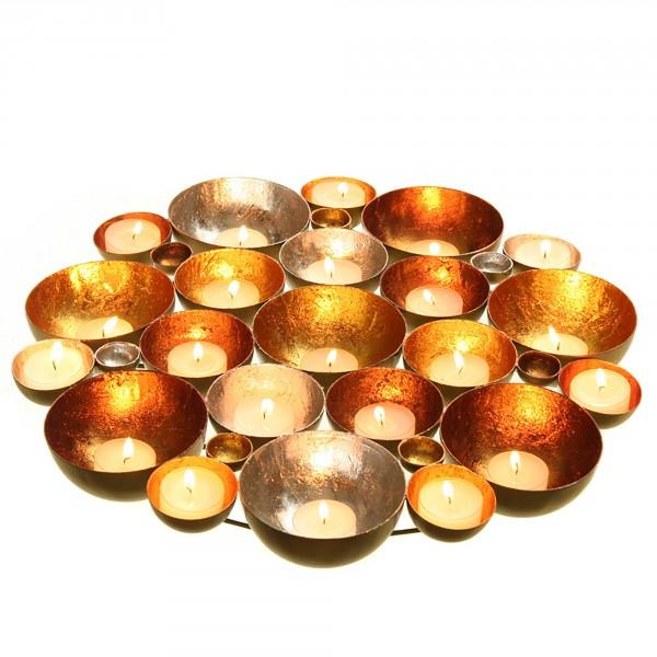 Kerzenschale - Teelichtschale - Wandobjekt 20/30/40 cm