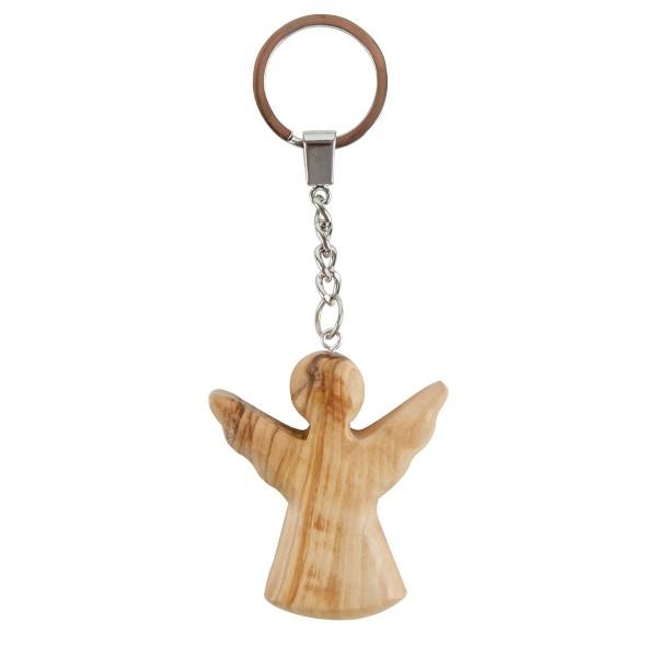 Schutzengel Schlüsselanhänger aus Olivenholz