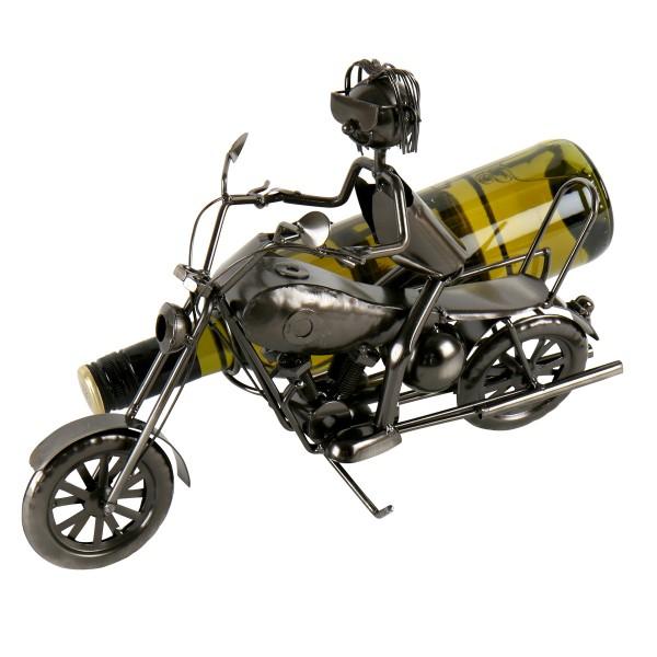 """Flaschenhalter """"Motorradfahrer EDDI mit Beifahrersitz"""""""