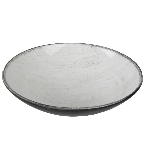 Dekoschale aus Kunststoff, weiß Ø 17 cm