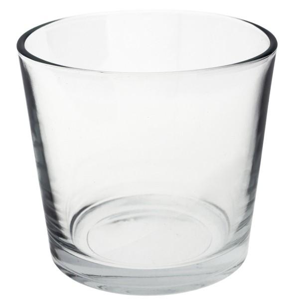 6 x Windlichter Lilly aus Glas, konisch Ø 10 cm H 9 cm