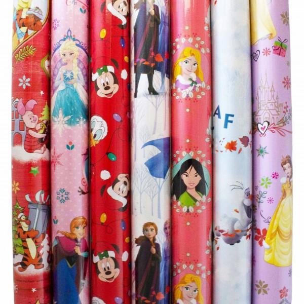 5 Rollen Geschenkpapier Disney Motive - 2m x 70 cm