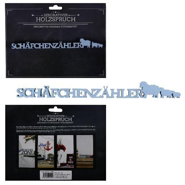 Holzschrift 3D Schäfchenzähler 21,4 cm