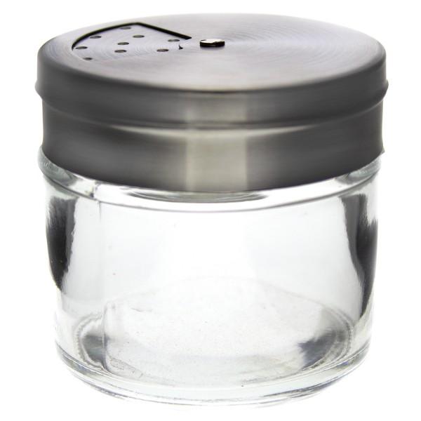 12 x Gewürzstreuer aus Glas mit Edelstahlverschluss 100 ml