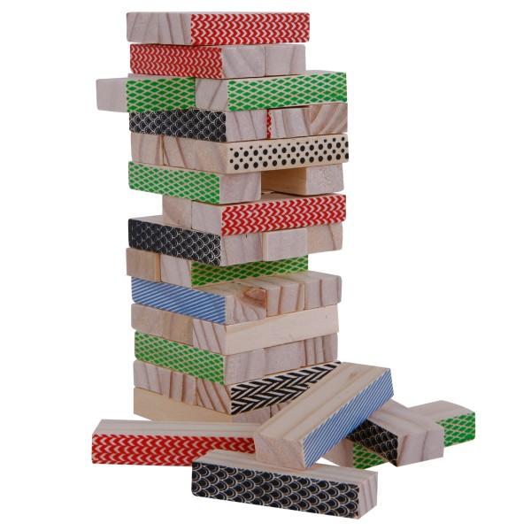 """Spiel """"Wackelturm aus Holz"""" 42-teilig, tolles Geschicklichkeitsspiel"""