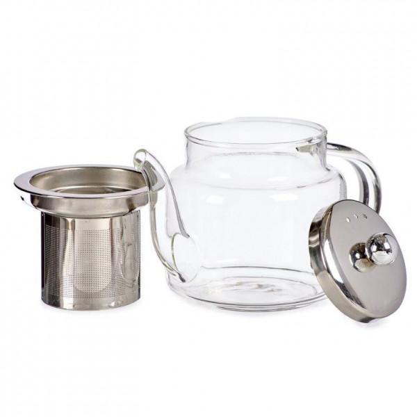 Teekanne aus Glas mit Edelstahl-Filter