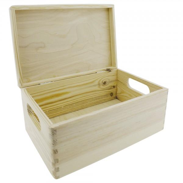 Holzboxen mit Deckel unbehandelt in hochwertiger Qualität