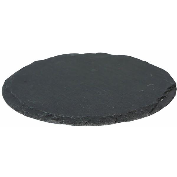6 x Schieferplatte rund - Untersetzer Ø 10 cm