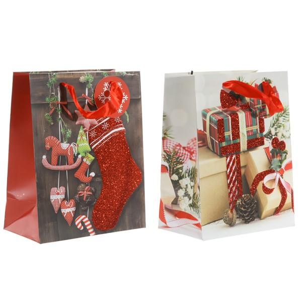 12-tlg. Set Geschenktüten mit stimmungsvollen Motiven