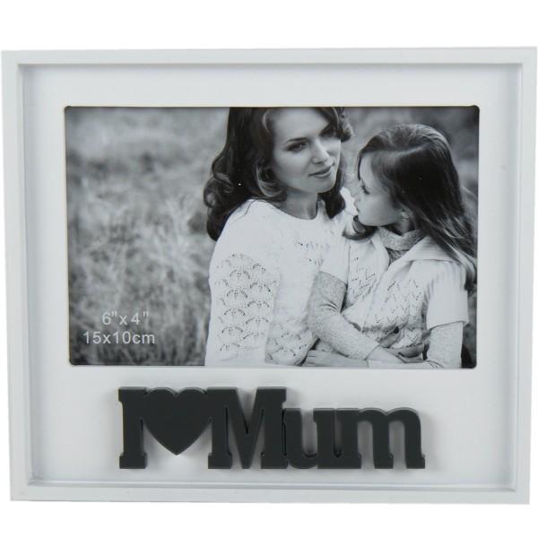 """Fotorahmen """"I love mum"""" Holz"""