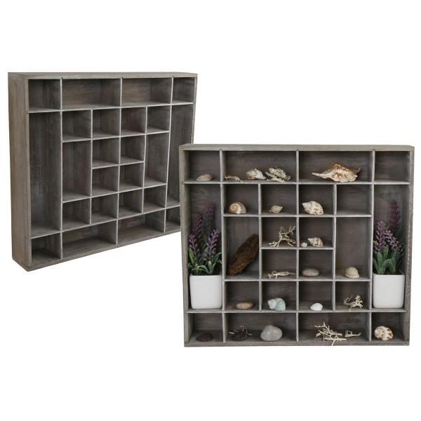 Setzkasten aus Holz, 24 Fächer 40 x 45 cm