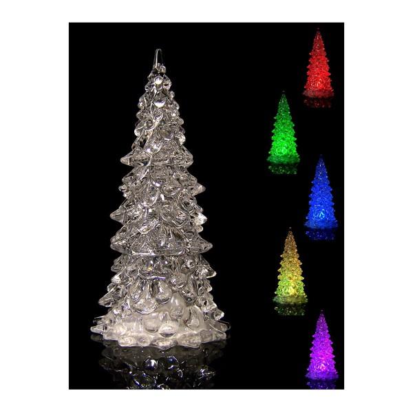 6 x LED-Weihnachtsbaum mit Farbwechsler H 12,5 cm