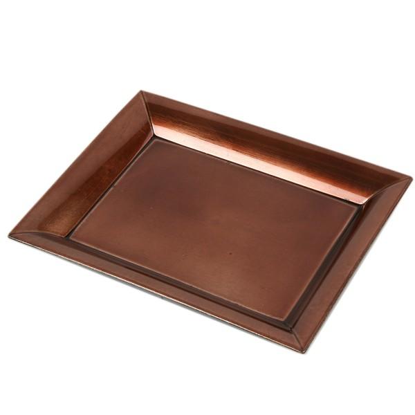 Tablett, braun glänzend, L 22 cm