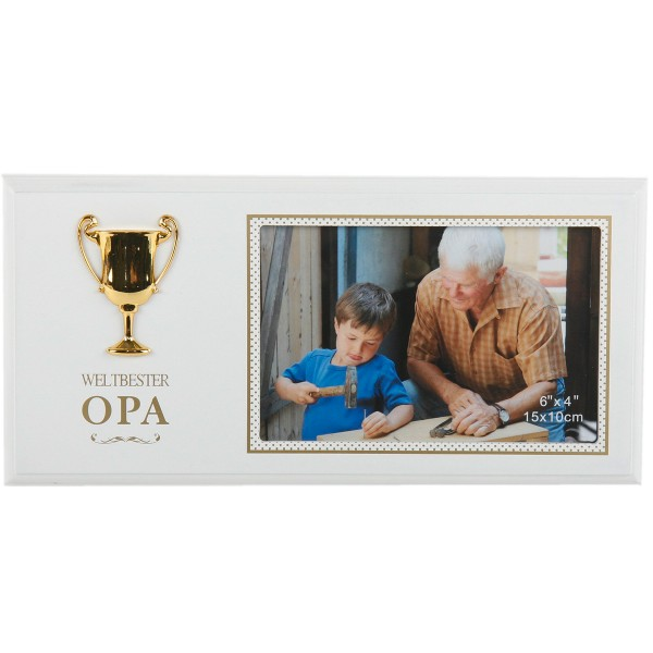 "Fotorahmen ""Weltbester Opa"" Holz"