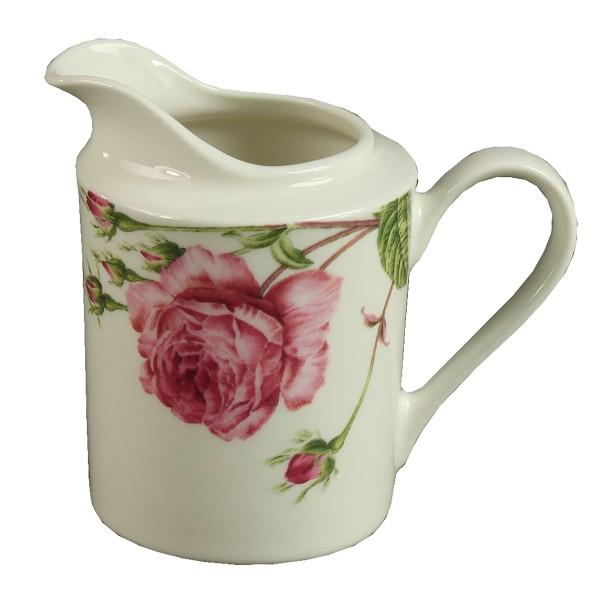 Stilvolles Geschirr aus Porzellan im Rosen- Design