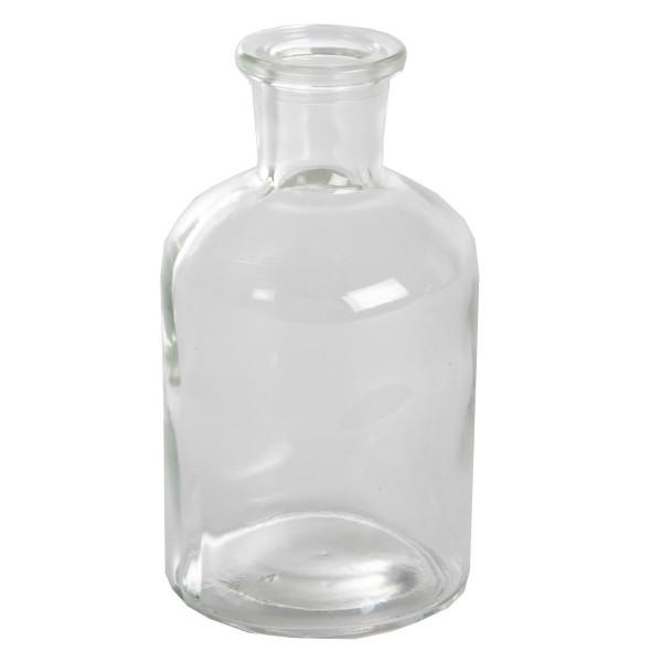 12 x Glasfläschen - Vasen H 12 cm