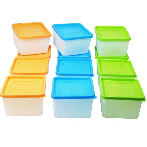 12 Stück Tiefkühldosen 0,7 Liter -40 °C bis +95 °C