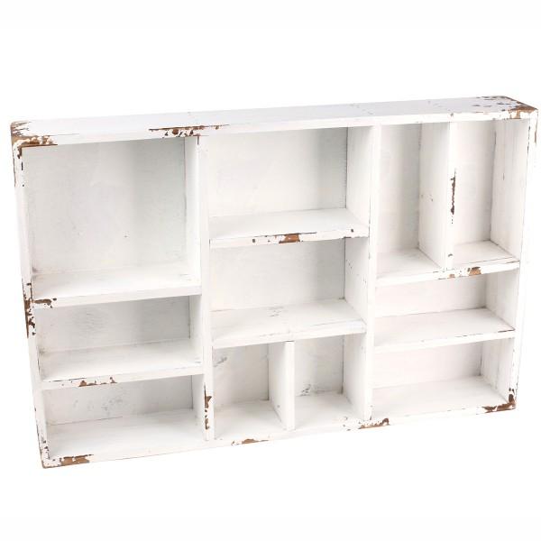 Antikholz Setzkasten weiß 38 x 29 cm