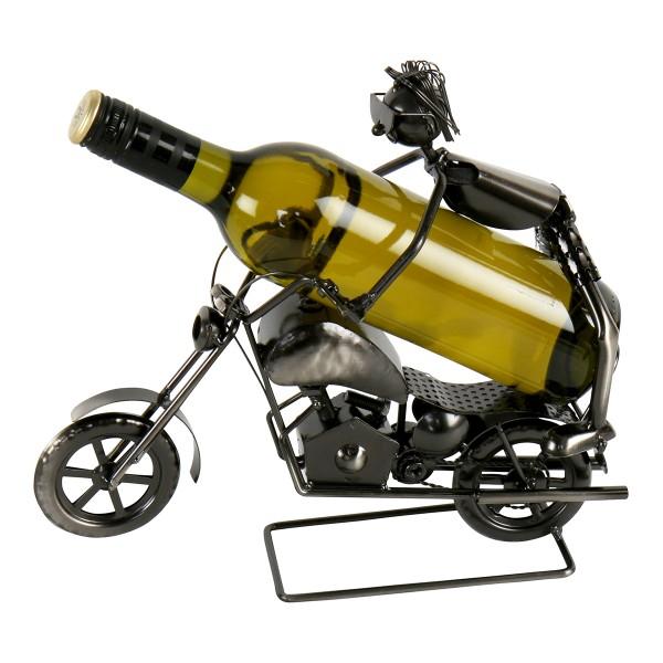 "Flaschenhalter ""Stunt-Motorradfahrer"" Metall"
