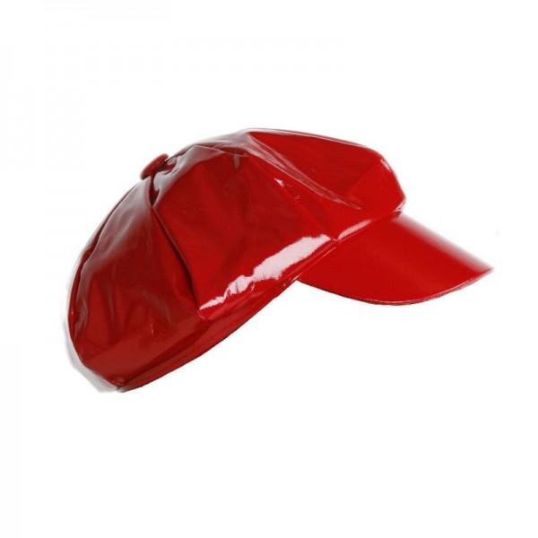 Schirmcap Lackfashion, rot