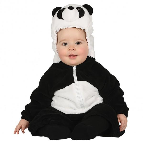 Pandakostüm für Kleinkinder mit Kapuze und Pandagesicht