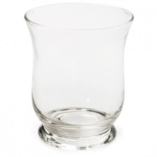 12 x kleines Windlicht oder Vase aus Glas H 11 cm