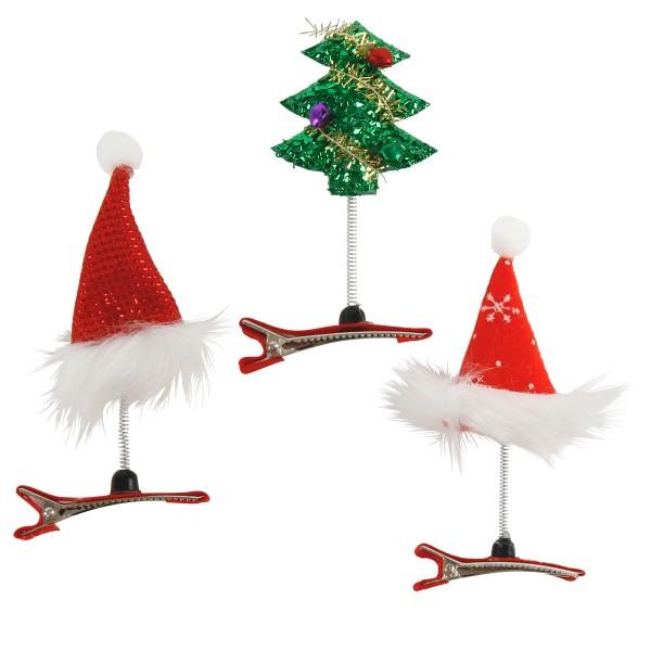 6-tlg. Set Haarclip im Weihnachtsdesign