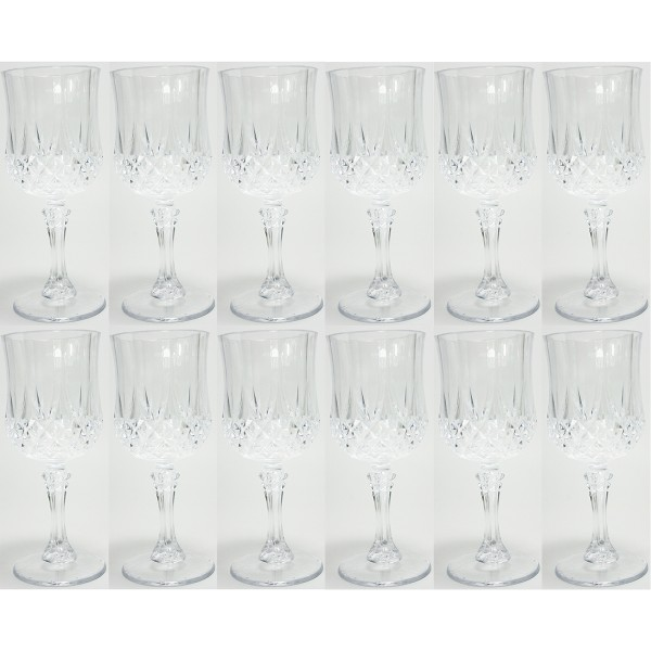 Weingläser aus Kunststoff- 12tlg. Set