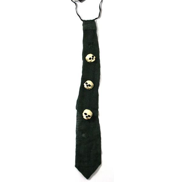 Krawatte mit 3 Totenköpfen