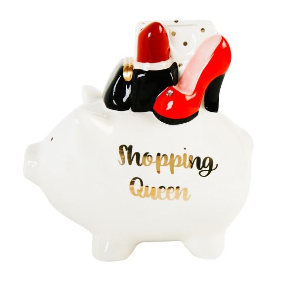 """Spardose """"Shopping Queen"""", creme"""