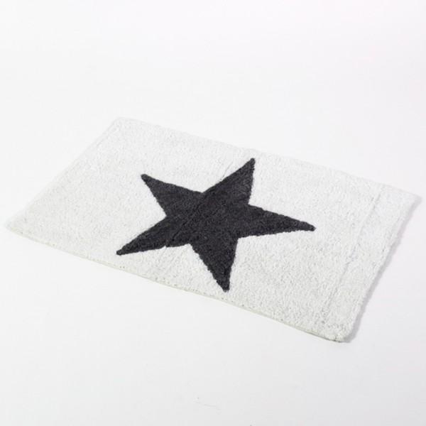 """Badematte """"Star"""" weiß mit Latex-Rückseite"""