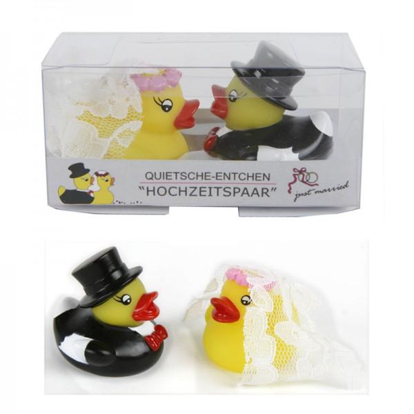 """Enten """"Hochzeitspaar"""" 2er Set, 6 cm"""