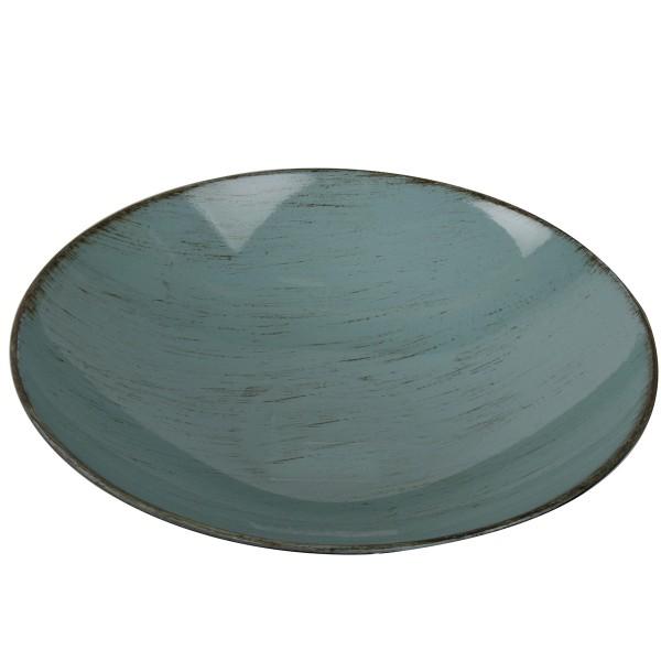 Dekoschale aus Kunststoff, türkis Ø 25 cm