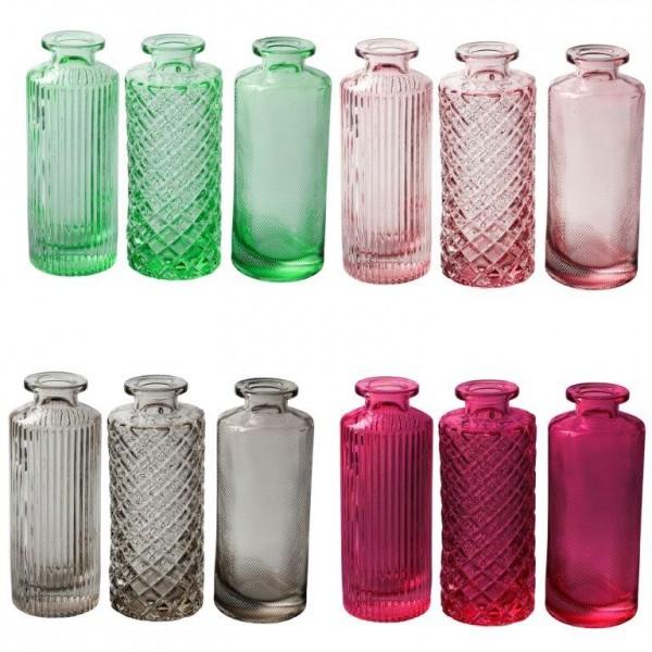 Vasen MIRA aus Glas - Glasflaschen - H 13,5 cm