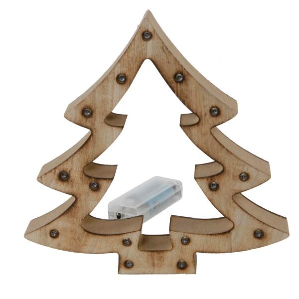 Holz Tannenbaum mit 15 LED Lichtern