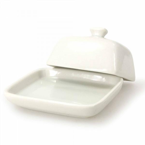 Kleine Butterdose aus Porzellan für 125 g
