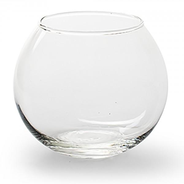 12 x Teelichtglas Kugelvase rund klar Ø 11,5 cm Urban Jungle