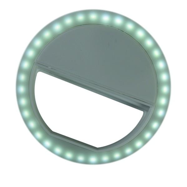 Selfie Lichtring 36 LED´s für Handy mit Clip inkl.Batterien, weiß