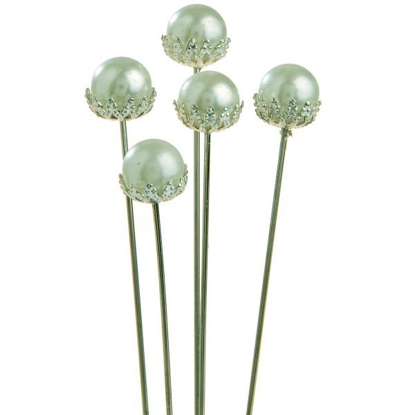 48 Stück Perlennadeln mit Kronenrand
