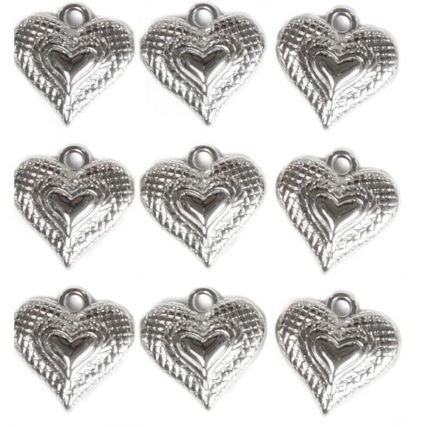 32 x Herzen mit Öse zum Hängen 2 - 3 cm