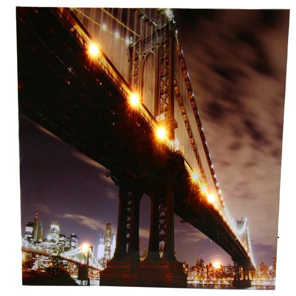 """Bild """"NEW YORK"""" mit 6 LEDs 50 x 50 cm batteriebetrieben"""