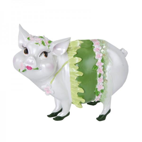 """Sparschwein """"Lady Piggy"""" grün, 17 cm"""