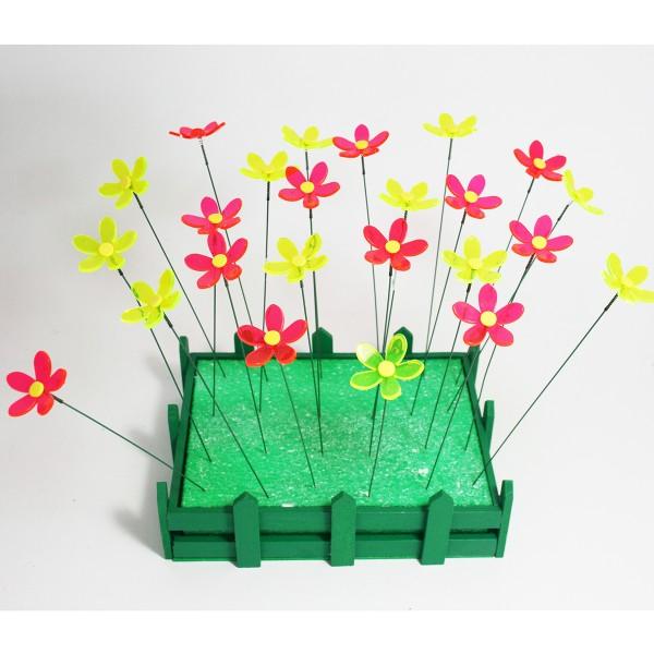 """Lichtfänger - Gartenstecker """"Blume"""" 24 Stück"""