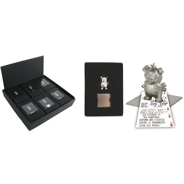 Zettel- und Fotohalter GLÜCKSSCHWEIN mit Magnet, 12er Display