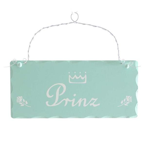 """Holzschild """"Prinz"""" zum Hängen L 20 cm"""