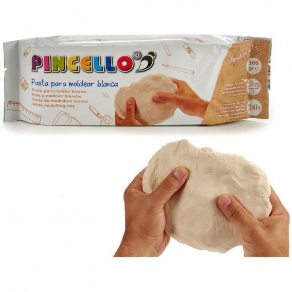 Modelliermasse Pincello Clay 500 g weiß