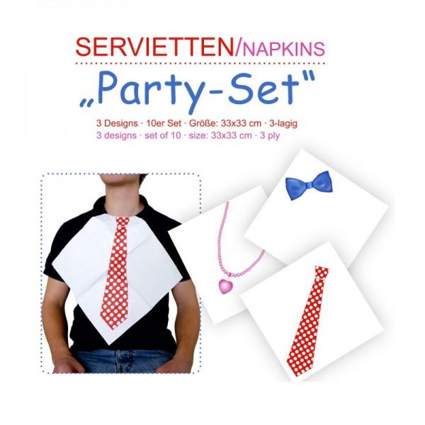 """Servietten """"Party Spass"""" , 10er Set"""
