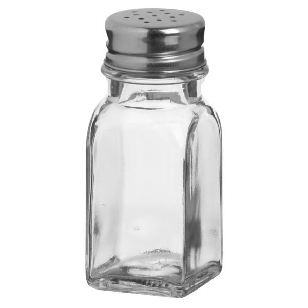 24 x Gewürzstreuer aus Glas mit Edelstahldeckel 70 ml H 9 cm