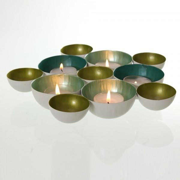 XXL Teelichtschale oder Wandobjekt aus Metall 20 - 40 cm