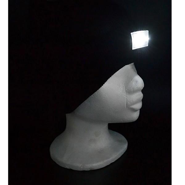 """Mütze aus Strick """"Kopflampe"""" mit 5 ultrahellen LED´s inkl. Batterien"""